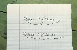 Ligne d'écriture au Musée des commerces d'autrefois à Rochefort
