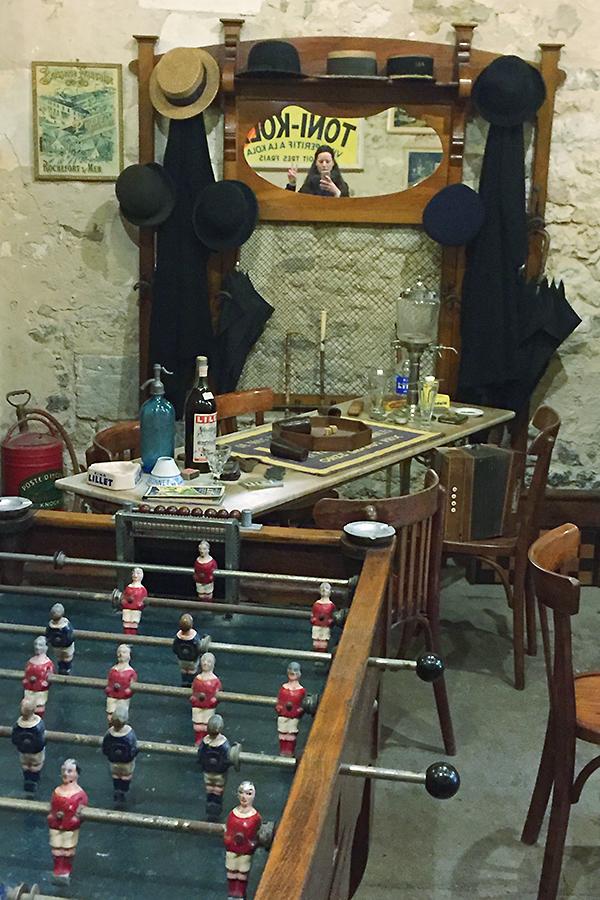 Musée des commerces d'autrefois à Rochefort - Le bar
