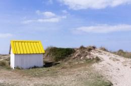 Cabines de bain à Gouville-sur-Mer Manche