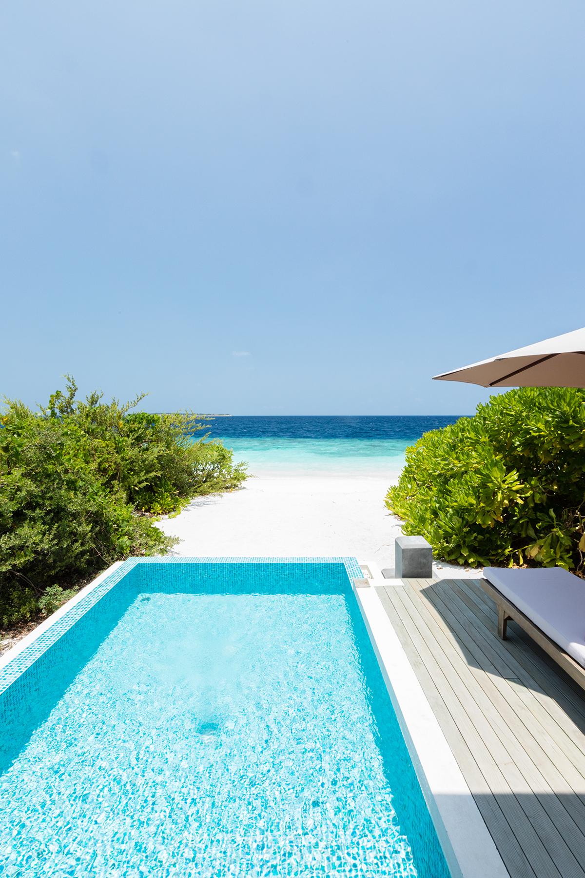Beach Villa with pool Dhigali Maldives