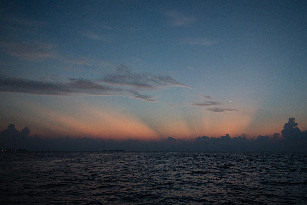 Maldivian style sunset fishing Dhigali Maldives
