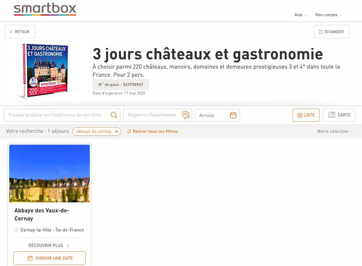 Smartbox - Réservation en ligne
