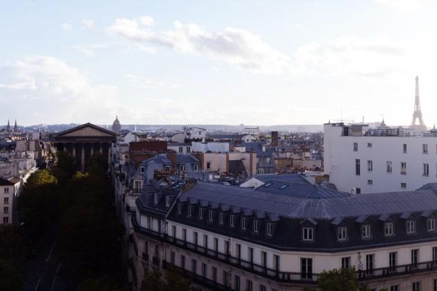 Vue depuis le toit du Printemps Haussmann