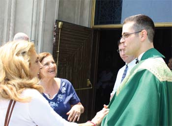 Image result for with priest after mass