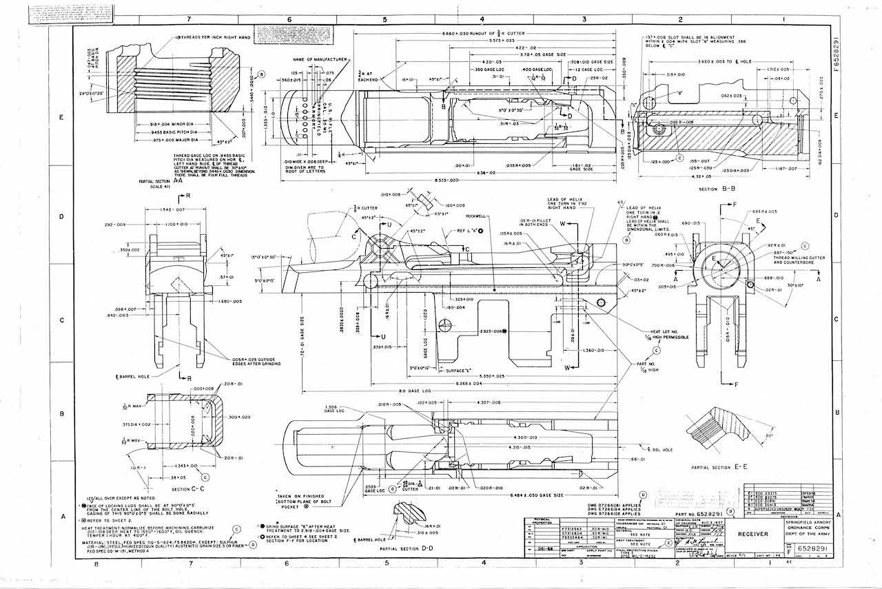 Featured M1 Garand Schematic Revere S Riders