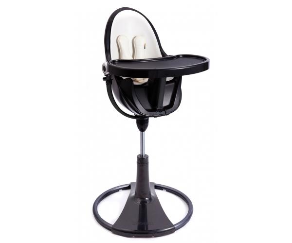 chaise haute evolutive fresco avec starter kit chrome noir