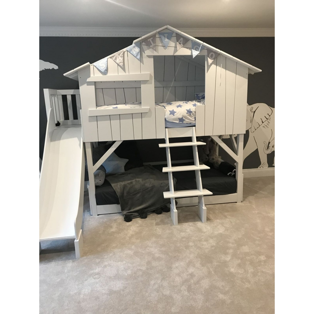 Treehouse Bunk Bed With Slide And Plateform By Mathy By