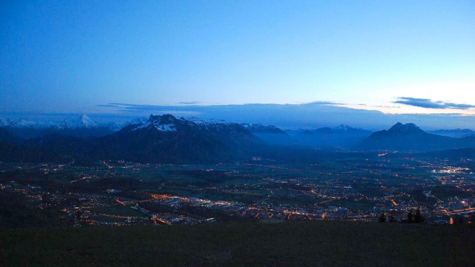 Pohled z hory na Salzburg