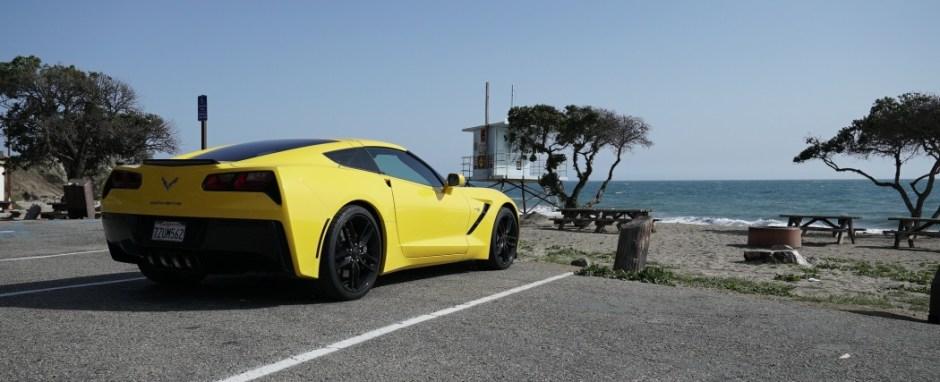 Chevrolet Corvette Stingray C7 near Malibu