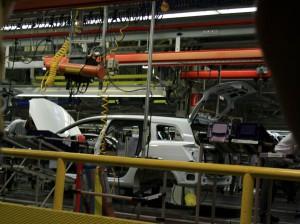 Produktion im Bochumer Opel-Werk I - Werksbesichtigung im August 2008. (Foto: Bernd Berke)