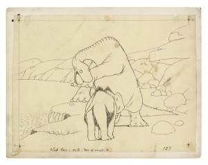 """Zeichnung zum Trickfilm """"Gertie, der Dinosaurier"""", 1914 (Bild: Katalog)"""