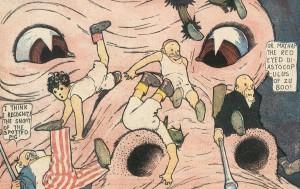 """Alptraumszene aus """"Little Nemo in Slumberland"""", 1909 (Bild: Katalog)"""