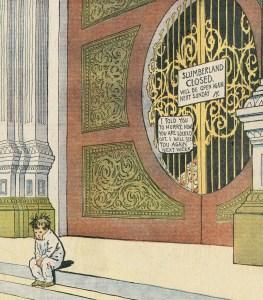 """Das Tor zum Schlummerland - Detail aus Winsor McCays """"Little Nemo in Slumberland"""", 1906 (Bild: Katalog)"""