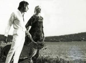 Lebe wild und gefährlich: Gunter Sachs und Brigitte Bardot mit Raubkatze, 1969 in Saint-Tropez. (© NDR/Privatarchiv der Familie Sachs)