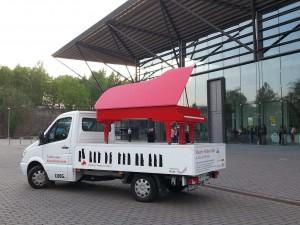 Auftakt zum Klavier-Marathon: In der Jahrhunderthalle Bochum begann das Klavier-Festival Ruhr. Foto: Werner Häußner