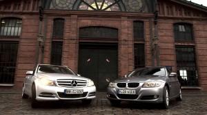 Mercedes kontra BMW (@ ZDF/Uwe Kielhorn)