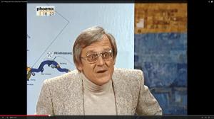 """Dieter Hildebrandt im Januar 1982 in der legendären """"Scheibenwischer""""-Ausgabe über den Rhein-Main-Donau-Kanal (Screenshot aus http://www.youtube.com/watch?v=MosvwkOelcs)"""