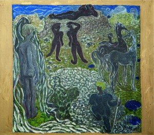 "Jóhannes S. Kjarval: ""Fantasie"" (1949, Öl auf Leinwand) (©Listasafn Islands/National Gallery of Iceland)"