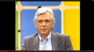 """Dieter Kürten am 9. März 1985 im """"Aktuellen Sportstudio"""" des ZDF. (Screenshot aus: http://www.youtube.com/watch?v=8VLZyGx8Wac)"""