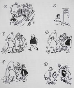 """Bildergeschichte aus der Zwischenkriegszeit: e. o. plauen """"Vater und Sohn"""", 1930er Jahre (© Wilhelm Busch - Deutsches Museum für Karikatur und Zeichenkunst)"""