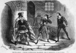 """Szene aus dem 3. Akt der Oper """"Fidelio"""" (Leonore), Théâtre Lyrique, Paris, 1860. Foto: Bibliothèque nationale de France"""