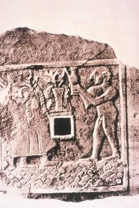Ein sumerischer Opfertisch: Die Sumerer kannten schon vor 6000 Jahren das Bier. Foto: Deutscher Brauer-Bund
