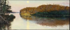 "Akseli Gallen-Kallela: ""Landschaft in Kuhmo"" (1890). (Serlachius-Stiftung/Gustav-Lübcke-Museum)"