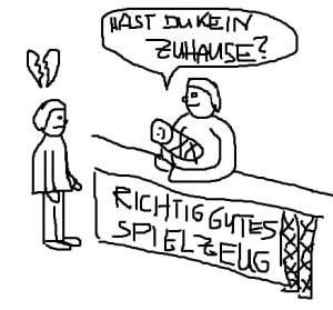 """Das """"richtige"""" Spielzeug. (Bild: Albach)"""
