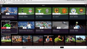 Screenshot von dazn-Angeboten auf der Homepage des Dienstes. (© dazn)