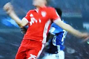 Screenshot vom Spiel Schalke 04 - Bayern München (© Sky Bundesliga)