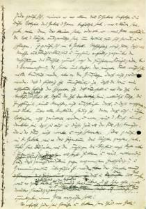 Eine Seite des Manuskripts der Predigt. Foto: Archiv des Erzbistums Köln.