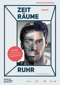 """Das Plakat zum Projekt """"Zeit-Räume Ruhr"""": Zechenkumpel wird zum... IT-Experten, Hipster oder was auch immer. (© Zeit-Räume Ruhr / Gestaltung: Freiwild Kommunikation)"""