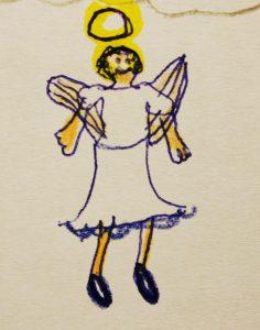 """Beispielsweise eine """"Lichtgestalt""""... (Zeichnung: Stella Marie Berke)"""