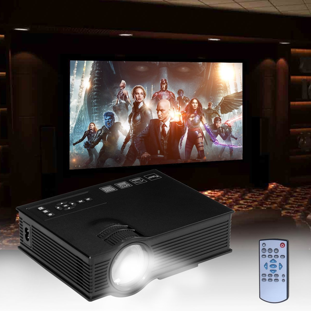 UC40+ HD Mini Proyector Portátil Proyector de Cine en Casa