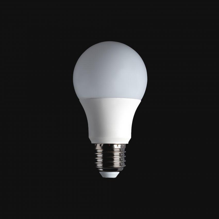 Lâmpada LED do tipo bulbo.