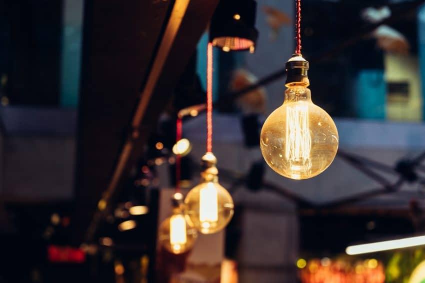 Lâmpadas de filamento LED.