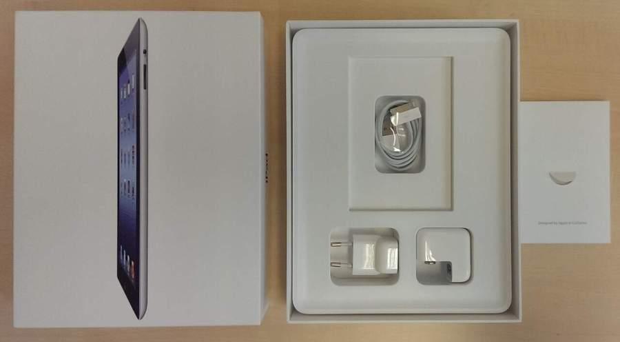 Imagem da caixa de um iPad.