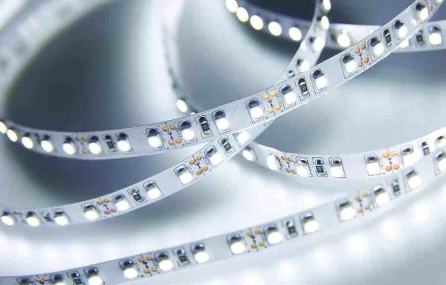 Imagem de fita de LED.