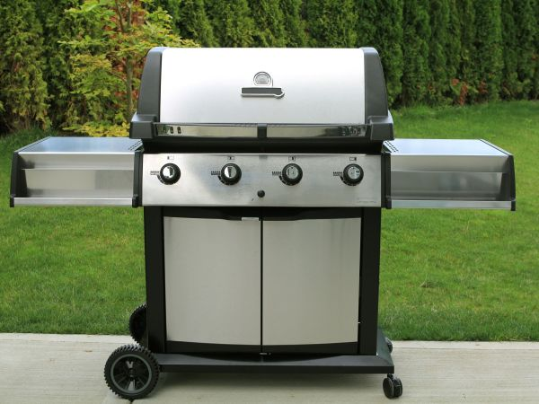 10740628 – stainless barbecue grill as a outdoor appliance