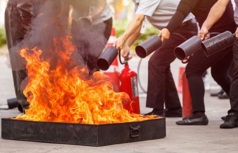 Prova di estinzione di un fuoco