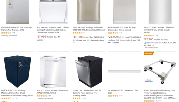 Dishwashers on Amazon