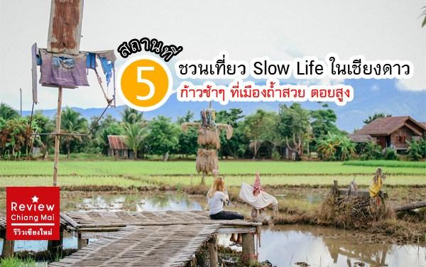 5 ที่ชวนเที่ยว Slow Life ในเชียงดาว ก้าวช้าๆ ที่เมืองถ้ำสวยดอยสูง