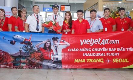 เวียตเจ็ทเปิดเที่ยวบินปฐมฤกษ์เส้นทาง ญาจาง – โซล