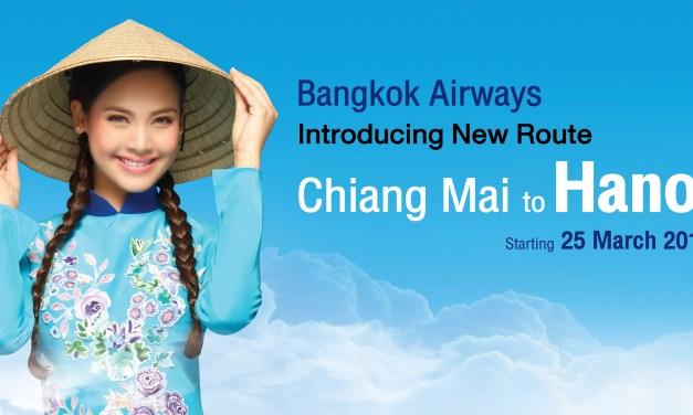 บางกอกแอร์เวย์สเตรียมเปิดเส้นทางบินใหม่ เชียงใหม่-ฮานอย (เวียดนาม) ให้บริการทุกวัน เริ่ม 25 มีนาคมนี้