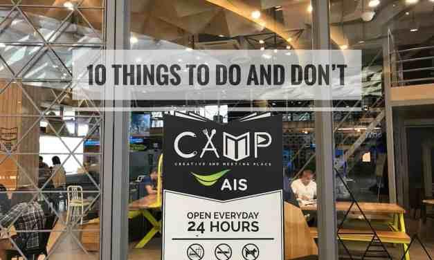 10 ข้อควรจำ เมื่อมานั่งทำงานอ่านหนังสือที่ AIS CAMP เมญ่าเชียงใหม่