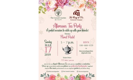 Afternoon Tea Party @ The Consul's Garden
