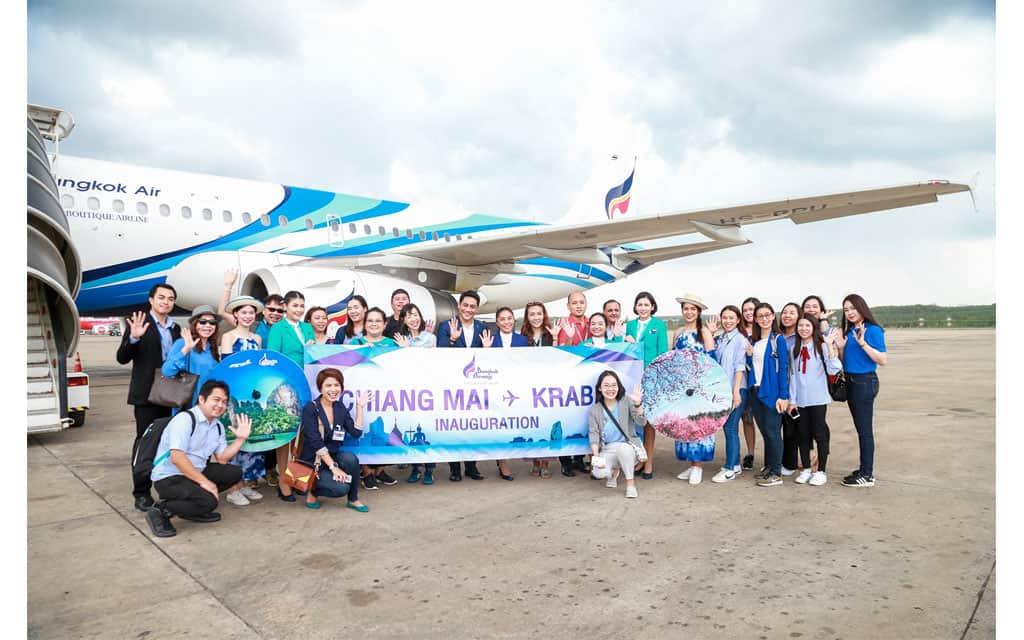 """บางกอกแอร์เวย์สจัดเที่ยวบินปฐมฤกษ์เปิดเส้นทางบินใหม่ """"เชียงใหม่ – กระบี่"""" / Bangkok Airways inaugurates direct service from Chiang Mai to Krabi"""