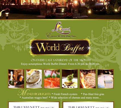 World Buffet, 24th Nov 12 and Loy Krathong, 28th Nov 12 @ Le Crystal Restaurant