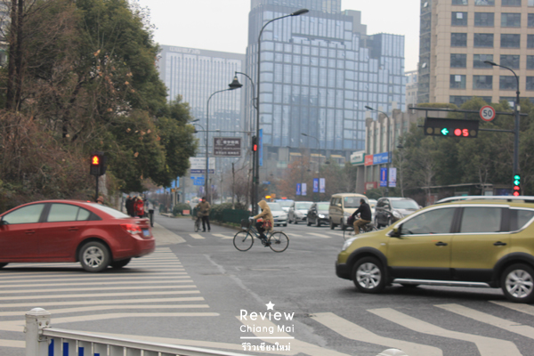 china car on the road