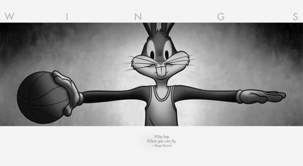 Bugs Bunny Pushing New Nike Air Jordan
